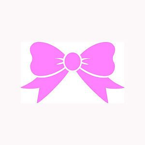 Bow Tie Sticker Car Truck Window Vinyl Decal Laptop Cute Girlie Gift Fun Humor 2