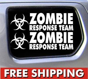 2 Zombie Response Team Stickers Decal JDM Set Vinyl Car