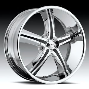 "22"" Boss Motorsports 334 Chrome Ford Expedition F 150 Navigator Wheels Rims"