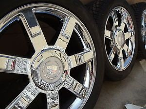 "22"" Cadillac Escalade Factory Chrome Wheels Rims 285 45 22 Tires 22 Inch"