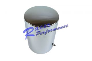 "Chrome Steel Oil Filter Cover Tall Style 5 3 16"" x 3 11 16"" Chevy Ford Chrysler"