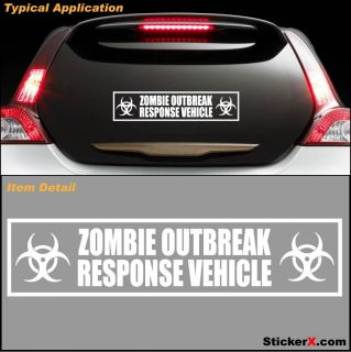 Zombie Response Vehicle Zombieland Bumper Sticker Decal