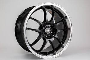 17 Enkei PF01 Black Rims Wheels 17x8 17x9 50 60 5x114 3 Honda S2000 Staggered