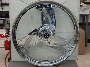 "Weld ""Grinder"" 21""X2 15""Chrome Motorcycle Front Wheel"