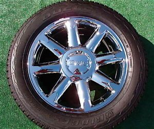 New Takeoff Genuine GM Factory GMC Yukon Denali Chrome 20 inch Wheels Tires