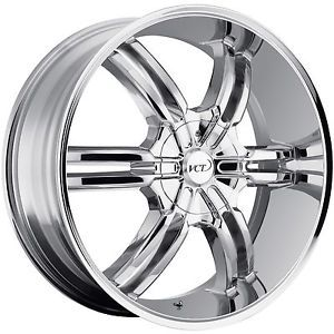 "22"" Chrome VCT Torino Wheels Rim GMC Sierra Chevy Silverado 1500 Tahoe Ford F150"
