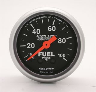 Auto Meter 3312 Sport Comp Mechanical Fuel Pressure Gauge