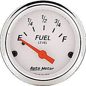 Auto Meter 1315 Arctic White Fuel Level Gauge