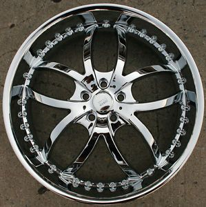 "Bigg Style 406 22"" Chrome Rims Wheels Chrysler 300 300C AWD 22 x 8 5 5H 35"