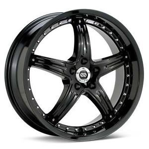 18 Enkei LS 5 Black Rims Wheels 18x8 50 5x112 Jetta Passat Golf GTI Rabbit A3