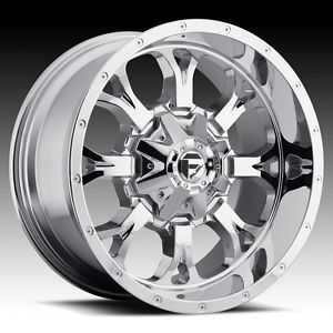 22 inch 22x11 Fuel Krank Chrome Wheel Rim 5x135 F150 Expedition Navigator 97 03
