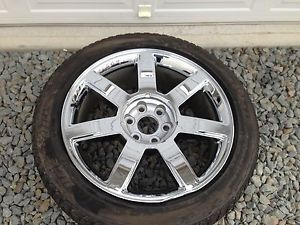 "Cadillac Escalade Ext ESV Factory 22"" Chrome Wheel Tire 2007 2013"
