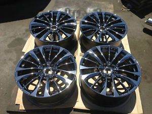 19'' Infiniti G37 G37S M35 M37 M45 M56 Black Chrome Rims Wheels Enkie 17 18