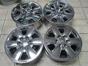 "18"" GMC Sierra Silverado Yukon Factory Chrome Clad Wheels Rims"