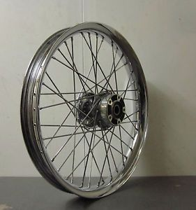 "Harley Davidson FXST 21"" Chrome Profile Laced Spoke Wheel 43445 05"