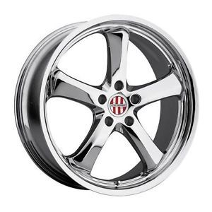 18 inch 18x11 Victor Turismo Chrome Wheels Rims 5x130 52 Porsche