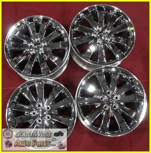 "07 08 09 10 11 Ford Edge 18"" Chrome Clad Take Off Wheels Factory Rims 3673"
