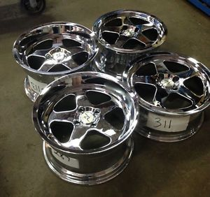 "Mustang Saleen SC Style Wheels 17x8 17x10"" 17 inch 17"" 4 Lug Rims Chrome"