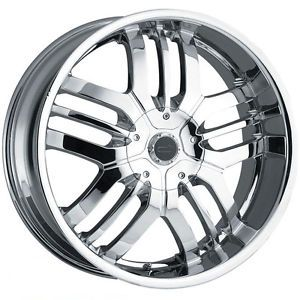 "20"" Csquared C4 Chrome Wheel Tire Package Rims 6 Lug Vehicles Chevy"