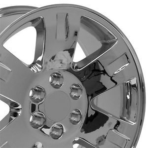 "20"" inch Chrome Chevy Silverado Suburban Tahoe Avalanche Wheels Rims"