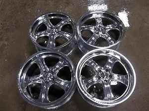 Weld Racing 20x9 Chrome Wheels 5 Spoke Rims 20""