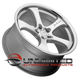 "20"" MRR CV2 Silver Chrome Wheels Rims Fit Nissan 350Z 370Z Altima"