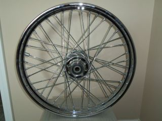 2003 Harley Davidson Dyna Wide Glide T 21 21 5 Chrome Front Spoke Wheel w Hub