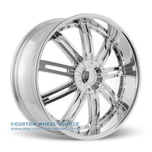 "22"" Velocity VW800 Chrome Rims for Chevy Dodge Ford GMC Lincoln Wheels"
