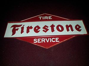 Firestone Tire Service Metal Sign Men Cave Garage Shop Chevy Ford Dodge