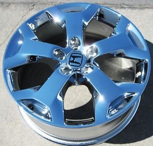 "Exchange Your Stock 4 18"" Factory Honda Crosstour Chrome Wheels Rims 64003"