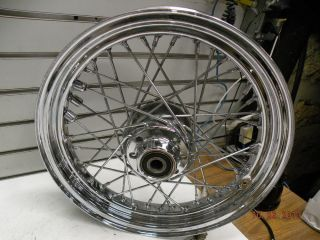 Front Wheel Harley Heritage Softail Spoke 00 Single Disc 3 4 Axle Chrome FXST