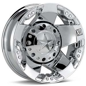 17 inch Chrome Wheels Rims Dodge RAM 3500 Chevy Silverado Ford F350 Dually 8x6 5