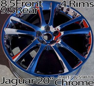 Jaguar XK R XKR 20 inch Chrome Wheels Rims Senta Genuine 59817 59818