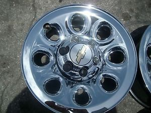 "One 17"" Chevy SILVERADO1500 Tahoe Suburban Avalanche 2005 2013 Chrome Wheels"