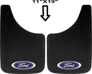 2pc Ford Built Tough Oval Logo 11x19 Mud Splash Guards Flaps for Car Truck SUV