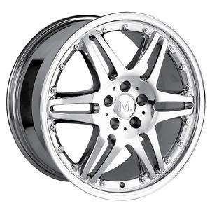 19 inch Detroit Donatello Chrome Wheels Rims 5x112 Audi TT TTS Q5 Crossfire 57