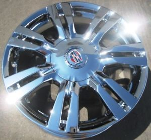 "4 New 18"" Factory GM Cadillac SRX Chrome Wheels Rims 2010 2012 Set of 4"