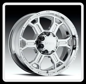 "18"" x 9 5"" V Tec 372 Raptor 18 inch Chrome 6x135 Ford F150 Wheels 6 Lug Rims"