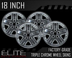 "2007 2008 Dodge Durango 18"" Chrome Wheel Skin Covers"