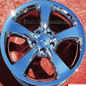 "Set of 4 New Mercedes Benz SL500 SL600 18"" Chrome Wheels Rims 65326 Exchange"
