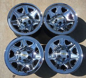 "New 2014 Chevy Avalanche Silverado Suburban Tahoe 17"" Chrome Steel Wheels"