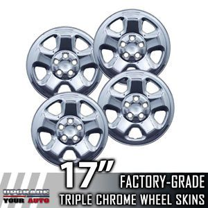 "2009 2012 Honda Pilot 17"" Chrome Wheel Skins Covers"