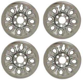 "Silverado 17"" Chrome Wheel Skins Hubcaps Covers Hub Cap"
