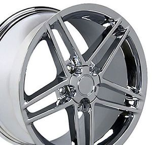 "17"" Rim Fits Corvette C6 Z06 Wheel Chrome 17 x 9 5"