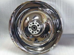 "Harley Davidson Obsolete Chrome 17"" Rear Wheel P N 41647 06"