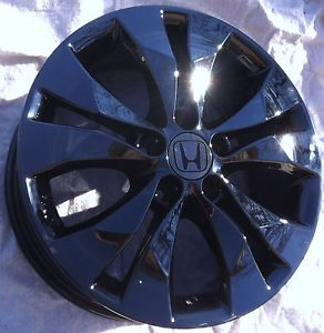 "4 2013 17"" Factory Honda CRV CR V Wheels Rims Black Smoke Chrome"