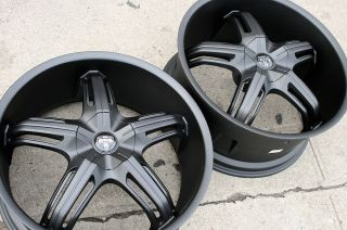 "Dub Drone 5 S156 22"" M Black Rims Wheels BMW x5 E53 E70 22 x 9 0 10 5 5H 35"
