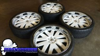 "26"" asanti Custom Painted White 3 Piece Wheels Rims Cadillac Escalade GMC Denali"