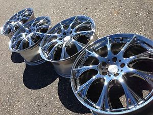"19"" Momo M1 Chrome Wheels Rims 5x112 Audi Volkswagen VW Mercedes 38"