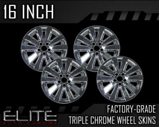 "2008 2011 Toyota Corolla 16"" Chrome Wheel Skin Covers"